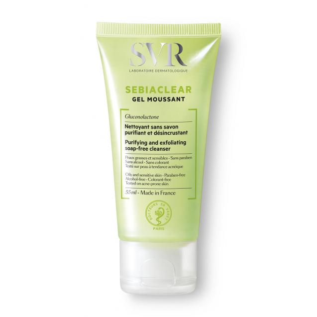 SVR SEBIACLEAR Foaming Gel Cleanser (spot, blemish, oily-prone skin) - Travel Size (50ml)